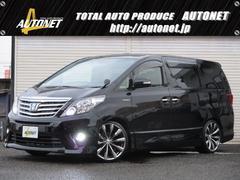 新潟県の中古車ならアルファードハイブリッド SR 4WD 車高調20AWサンルーフHDDフリップモニタ
