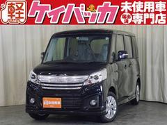新潟県の中古車ならスペーシアカスタム GS 届出済未使用車 左パワースライドドア スマートキー