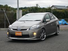 新潟県の中古車ならプリウス S LEDエディション 純正メモリーナビ 社外ダウンサス