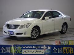 新潟県の中古車ならクラウン Rサルーン HDDナビ 本革 エアシート 電動シェード