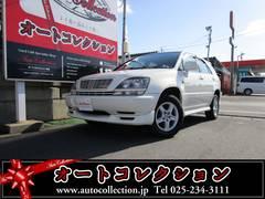 新潟県の中古車ならハリアー FOUR エアロツアラー 4WD車 タイミングベルト交換済み