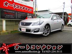 新潟県の中古車ならクラウン 3.5アスリート ブラックレザー HDDナビ フルセグ