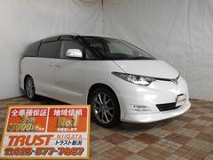 新潟県の中古車ならエスティマ アエラス Sパッケージ HDDナビ 後席TV フルセグ
