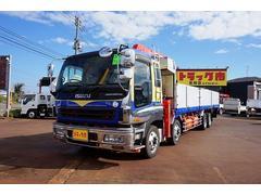 新潟県の中古車ならギガ 13t 4軸 2デフ アルミブロック 4段クレーン付
