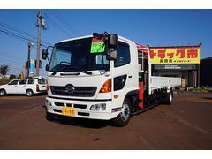 新潟県の中古車ならヒノレンジャー 7.4t 増トン ワイドベッド付 4段クレーン付 未使用車
