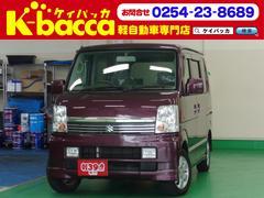 新潟県の中古車ならエブリイワゴン PZターボ 4WD 社外HDDナビ オートエアコン