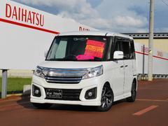 新潟県の中古車ならスペーシアカスタム XSターボ 4WD 新品ナビTV デュアルカメラブレーキS