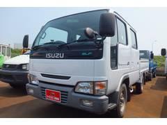 新潟県の中古車ならエルフトラック Wキャブ 4WD 積載1トン AC PS 荷台鉄板張り