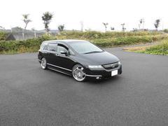 オデッセイL 車高調 シャレンメッキ19アルミ HDDナビ DVD再生
