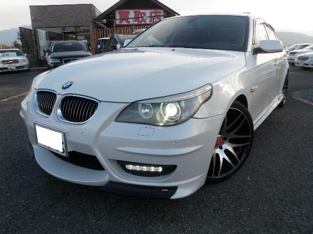 BMW 5シリーズ 545i 左H サンルーフ 黒革 エナジーコン...