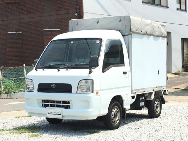 スバル サンバートラック 赤帽専用クローバー4 5速MT 幌コンテ...