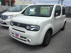 沖縄の中古車 日産 キューブ 車両価格 129万円 リ済込 平成26年 1.0万K ブリリアントホワイトパール