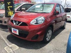 沖縄の中古車 日産 マーチ 車両価格 88万円 リ済込 平成27年 3.0万K ラディアントレッドPM