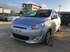 沖縄の中古車 三菱 ミラージュ 車両価格 48万円 リ済込 平成25年 6.6万K シルバー