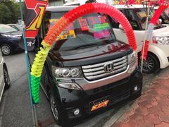 沖縄の中古車 ホンダ N BOX+カスタム 車両価格 112万円 リ済込 平成25年 2.0万K ブラックM