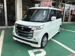沖縄の中古車 スズキ スペーシアカスタムZ 車両価格 151万円 リ済別 平成28年 29K パールホワイト