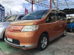 沖縄の中古車 日産 セレナ 車両価格 28万円 リ済込 平成18年 11.8万K オレンジ
