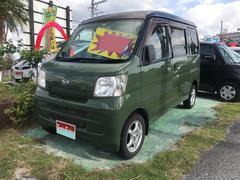 沖縄の中古車 ダイハツ ハイゼットカーゴ 車両価格 35万円 リ済込 平成20年 12.3万K グリーンブラックII