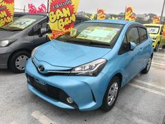 沖縄の中古車 トヨタ ヴィッツ 車両価格 72万円 リ済込 平成26年 6.9万K ライトブルー