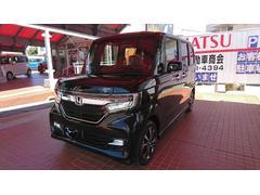 沖縄の中古車 ホンダ N BOXカスタム 車両価格 169万円 リ済込 平成30年 4K クリスタルブラックパール