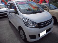 沖縄の中古車 三菱 eKワゴン 車両価格 90万円 リ済込 平成28年 0.8万K ホワイトパール