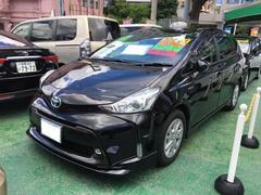 沖縄の中古車 トヨタ プリウスアルファ 車両価格 237.6万円 リ済別 平成28年 0.9万K ブラック
