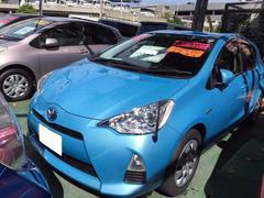 沖縄の中古車 トヨタ アクア 車両価格 118.8万円 リ済別 平成25年 5.1万K ライトブルー