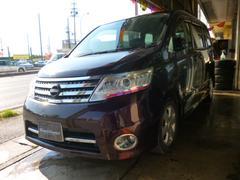 沖縄の中古車 日産 セレナ 車両価格 65万円 リ済込 平成20年 10.9万K ダークパープルM