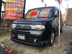 沖縄の中古車 日産 キューブ 車両価格 53万円 リ済込 平成22年 8.4万K ブラックM