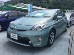沖縄の中古車 トヨタ プリウス 車両価格 108万円 リ済別 平成25年 7.2万K ライトブルーM