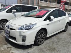 沖縄の中古車 トヨタ プリウス 車両価格 ASK リ済込 平成22年 9.6万K パールホワイト