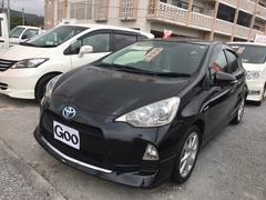 沖縄の中古車 トヨタ アクア 車両価格 ASK リ済込 平成24年 5.7万K 黒