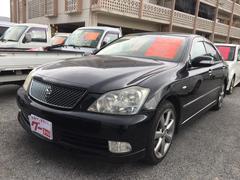沖縄の中古車 トヨタ クラウン 車両価格 65万円 リ済込 平成16年 16.5万K ブラック