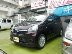 沖縄の中古車 ダイハツ ミライース 車両価格 93万円 リ済込 平成28年 0.3万K プラムブラウンクリスタルマイカ
