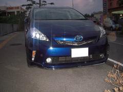 沖縄の中古車 トヨタ プリウスアルファ 車両価格 170万円 リ済込 平成24年 9.2万K 紺II