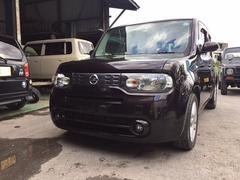 沖縄の中古車 日産 キューブ 車両価格 50万円 リ済込 平成21年 5.9万K Dブラウン