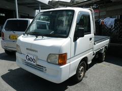 沖縄の中古車 スバル サンバートラック 車両価格 25万円 リ済込 平成13年 13.6万K ホワイト