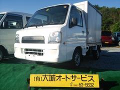 沖縄の中古車 スバル サンバートラック 車両価格 40万円 リ済込 平成15年 12.4万K ホワイト