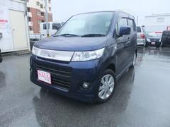 沖縄の中古車 スズキ ワゴンRスティングレー 車両価格 45万円 リ済込 平成21年 10.9万K ブラック