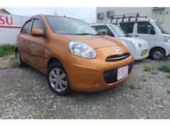 沖縄の中古車 日産 マーチ 車両価格 39万円 リ済込 平成23年 6.0万K オレンジ