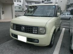 沖縄の中古車 日産 キューブ 車両価格 28万円 リ済別 平成15年 9.3万K ライトイエロー