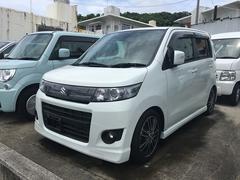 沖縄の中古車 スズキ ワゴンRスティングレー 車両価格 85万円 リ済込 平成24年 4.8万K パールホワイト