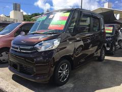 沖縄の中古車 三菱 eKスペース 車両価格 89万円 リ済込 平成27年 1.1万K ブラウン