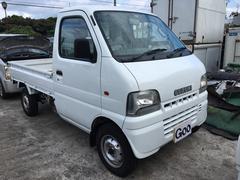 沖縄の中古車 スズキ キャリイトラック 車両価格 32万円 リ済込 平成14年 12.7万K ホワイト