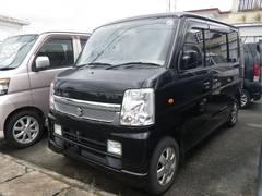 沖縄の中古車 スズキ エブリイワゴン 車両価格 49万円 リ済込 平成20年 14.2万K ブラック