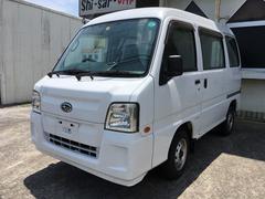沖縄の中古車 スバル サンバーバン 車両価格 37万円 リ済込 平成22年 12.6万K ホワイト