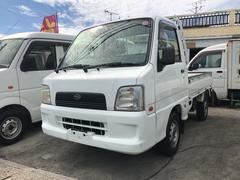 沖縄の中古車 スバル サンバートラック 車両価格 33万円 リ済込 平成17年 15.4万K ホワイト