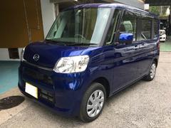 沖縄の中古車 ダイハツ タント 車両価格 128万円 リ済込 平成28年 0.5万K ディープブルークリスタルマイカ