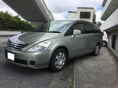 沖縄の中古車 日産 プレサージュ 車両価格 35万円 リ済込 平成16年 8.1万K ゴールド