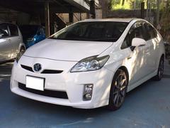 沖縄の中古車 トヨタ プリウス 車両価格 70万円 リ済込 平成21年 12.9万K パールホワイト
